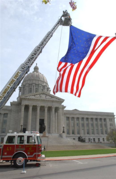 Fire Department Flag over Capitol